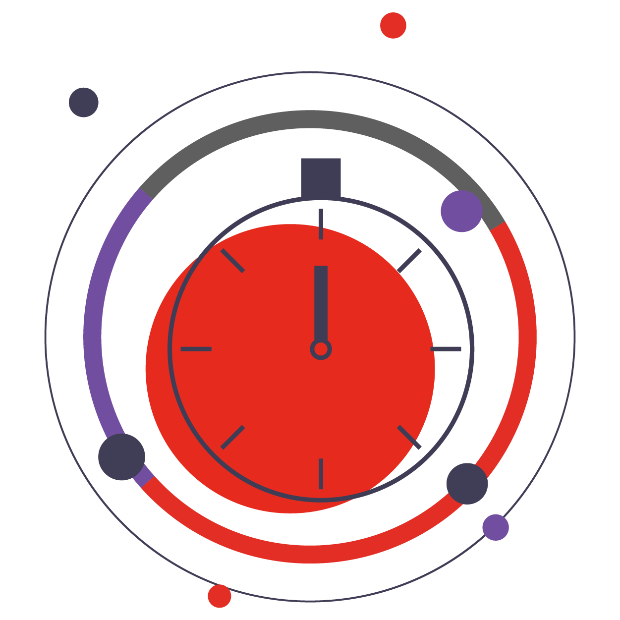 clock icon for motivational speech topic about effects of authenticity